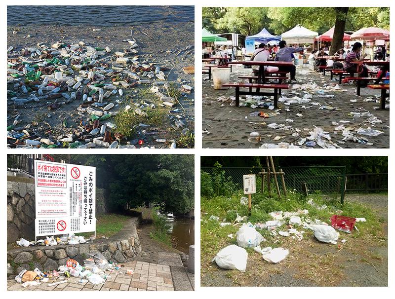 ゴミのポイ捨ての4事例