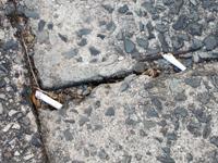 タバコの吸い殻ポイ捨て