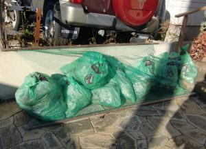 次のゴミ回収日までの積み上げ